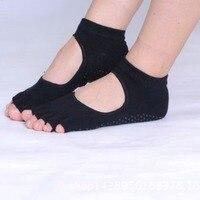 Half Toe Socks Ankle Durable Yoga Dance Excercise Pilates Socks Five Finger No Slip Female Lady