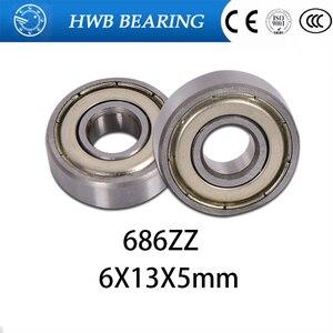 4PCS 6X13X5 Metal Shields Bearings ABEC-3 686 ZZ(China)