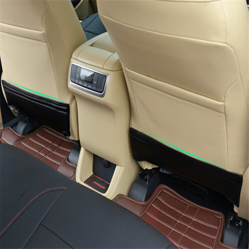 Seat Backrest Child Protection Cover Baby Kick Pad Anti Abrasive Pad Anti Track Pad For Toyota Highlander 2015 new arrival car auto care seat back protector case cover for children baby kick mat mud clean plastic transparent anti kick pad