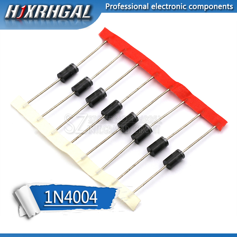 100PCS Rectifier Diode IN4004 1A 400V DO-41 1N4004 Hjxrhgal