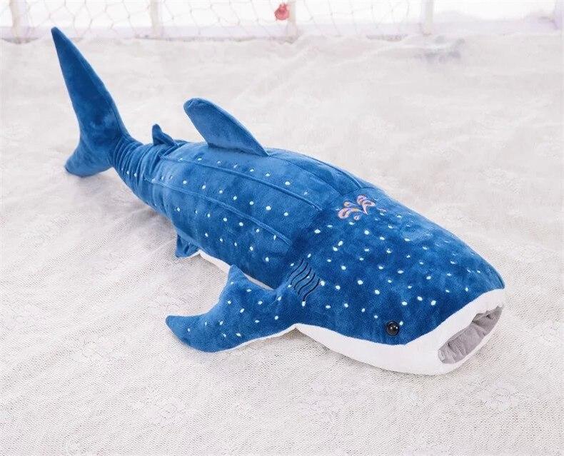 Énorme peau de peluche baleine bleu foncé 150 cm, juste étui, pas de garnitures, cadeau de noël w0249
