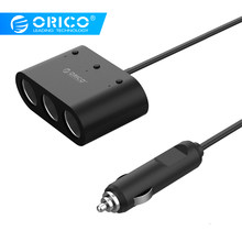 ORICO 3 USB Car Charger Universal Car Auto Cigarette Lighter Socket Splitter Power Adapter 120W 5V 3.1A with LED Light(China)