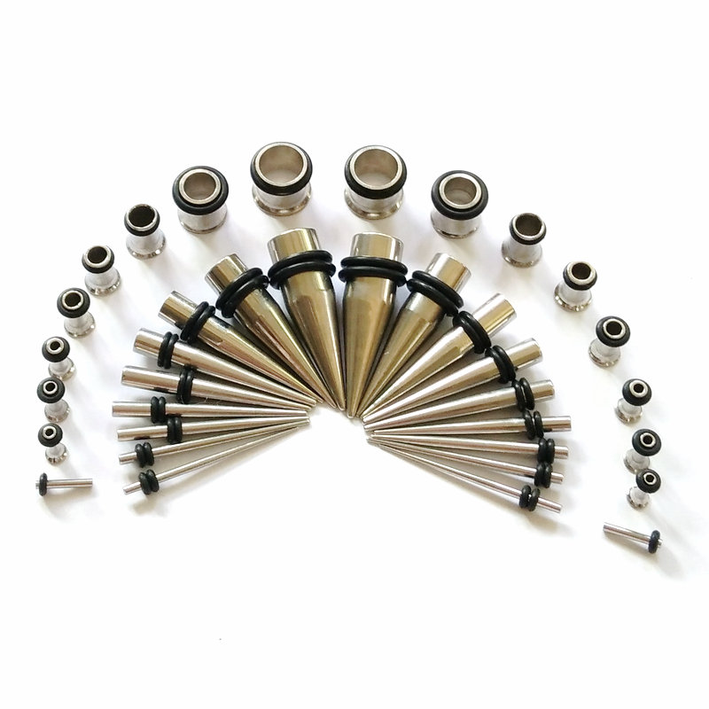 Ear Stretching Expanders Surgical Steel Curved Spiral Taper 2G-14mm 2 Pieces