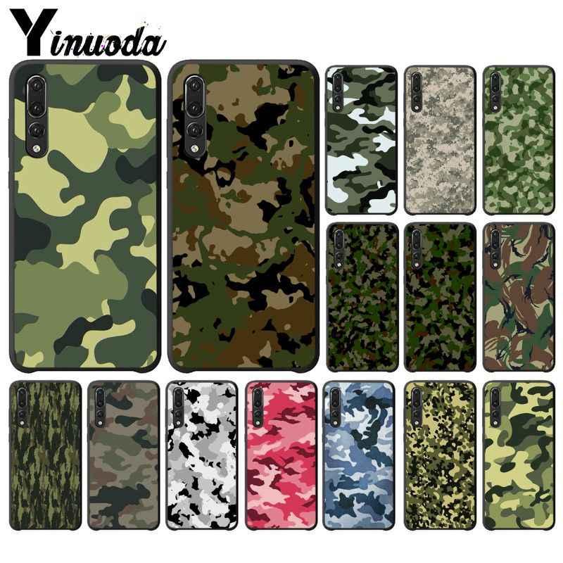 Yinuoda التمويه نمط كامو العسكرية الجيش الهاتف حافظة لهاتف huawei P10 P20 لايت Mate20 Mate10 لايت P20Pro Honor10 9 لايت Honor8X