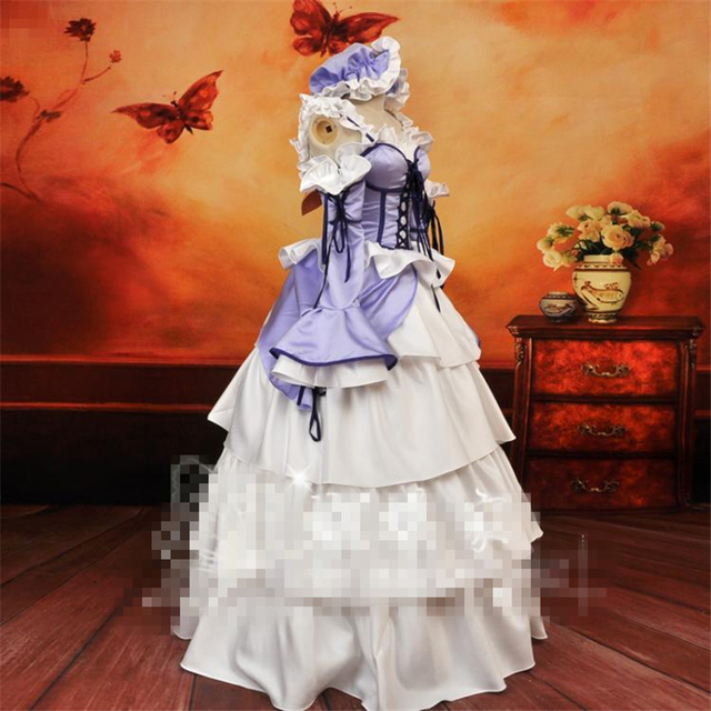 New Anime Cos Chobits Chi Light Purple And White Color Dress Cosplay  Costume Birthday Party Dress 61da8188a934