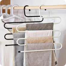 NEW High Quilaty 5 Layers Trousers Hanger Pants Clothes Holder Rack S Shape Multi-Purpose For Tie Organizer Storage Hanger 65638