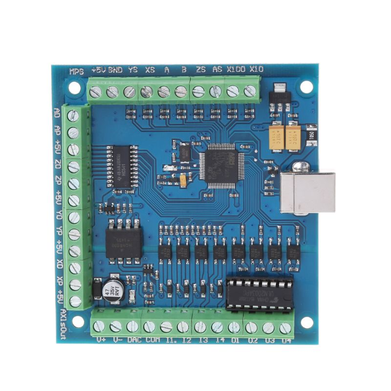 DC 12-24V CNC MACH3 USB 4 Axis 100KHz CNC Smooth Stepper Motion Controller Card Breakout Board for CNC EngravingDC 12-24V CNC MACH3 USB 4 Axis 100KHz CNC Smooth Stepper Motion Controller Card Breakout Board for CNC Engraving
