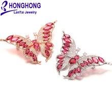 Высококачественный AAA+ кубический циркон Броши Булавки с бабочками для женщин Милая брошь с животными для свадебного подарка модные украшения