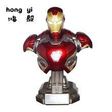 Железный человек 1: 2 бюста mk45 статуя руки сделать смолы модель украшения 48 см AG459