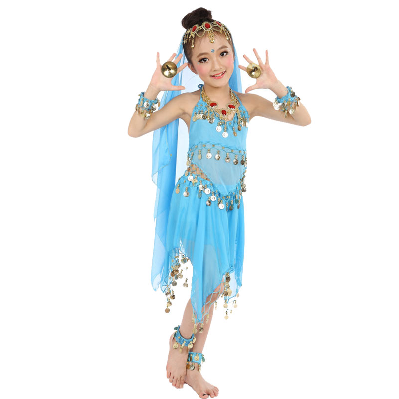 Bollywood Dance Costumes For Girls Belly Dance Children Indian