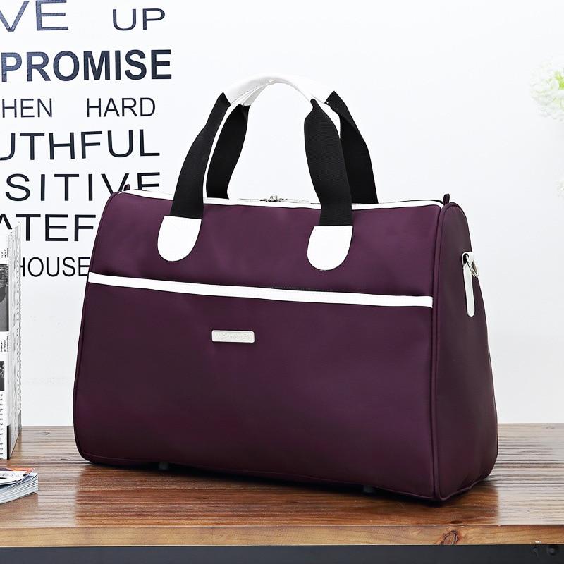 2018 large capacity Casual travel shoulder handbags ladies waterproof nylon big hand bag business trip duffle bags