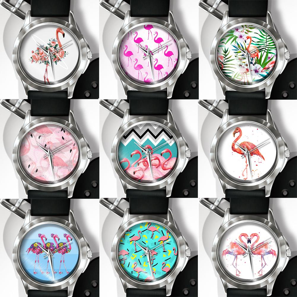 Creative Flamingo Pattern Band Men Women Quartz Analog Wrist Watch Hot Fashion 2018 Unisex Popular dropshipping Bracelet Clock creative star pattern zinc alloy case pu band quartz analog wrist watch for women green brown