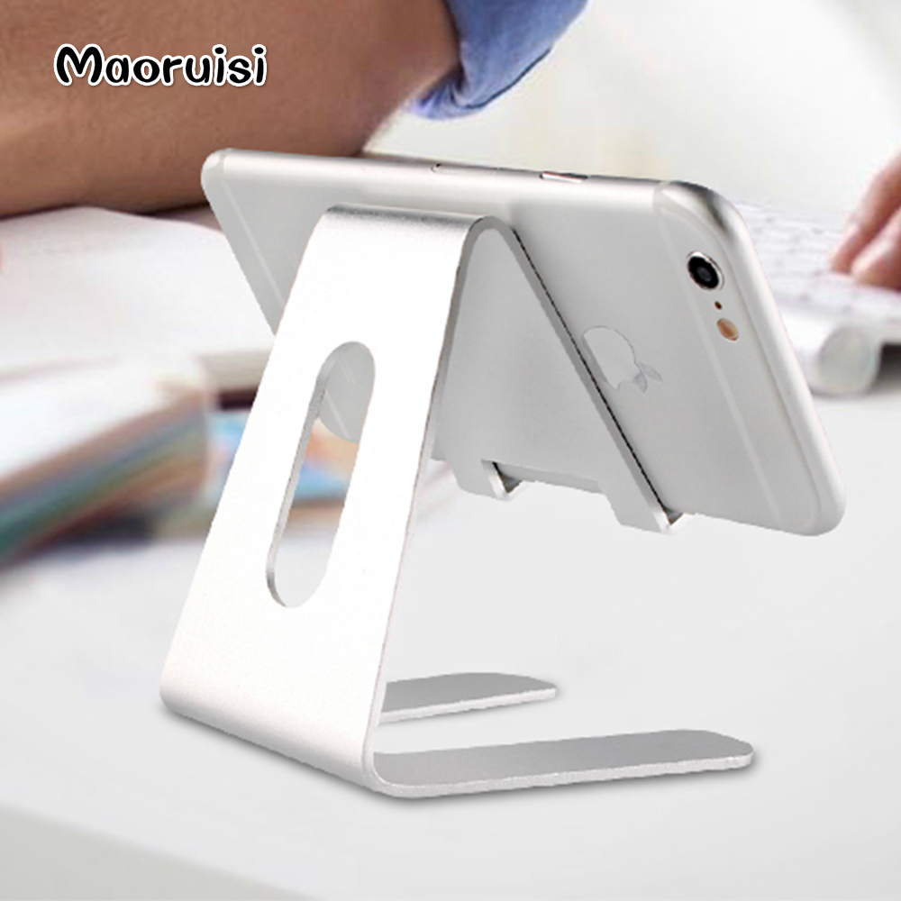 3 pcs Maoruisi Tablet Desk Stand Holder Para o iphone X 8 6 6 S Plus Suporte Do Telefone de Metal Para Samsung galaxy S8 S7 S6 Borda Acessórios