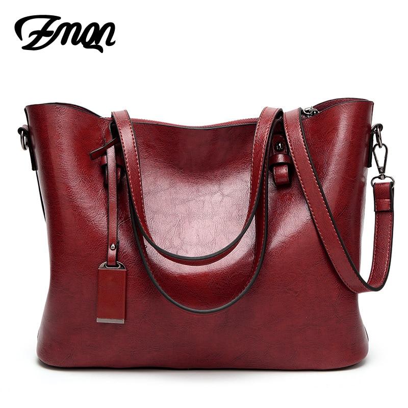 ZMQN Handbags Women Shoulder Bags Female Famous Brand Big High Capacity Simple Casual Tote Hand Bag Sac Femme Red Handbags A837