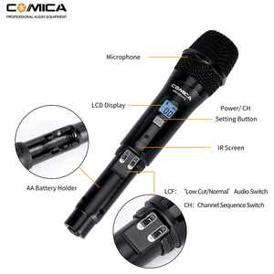 Image 2 - Comica CVM WM100 H UHF 48 Channels Wireless Handheld Microphone System Kit for Canon Nikon DSLR Cameras and Smartphones etc.