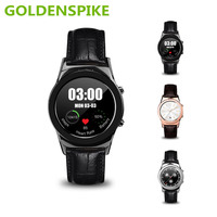 Goldenspike nieuwe ronde smart watch a8s smartwatch ondersteuning sim sd-kaart bluetooth wap gprs sms mp4 usb voor iphone android