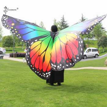 Adult and child Rainbow butterfly 360 degree big butterfly Props High quality Belly Dance Isis Wings Oriental bellydance wings - DISCOUNT ITEM  48% OFF All Category