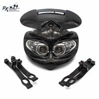 12V DC 18W Universal Motorcycles Fairing Headlight Fairing Head Light Lamp Low Beam Dual For Moto Dirt Pit Bike Motocross| |   -