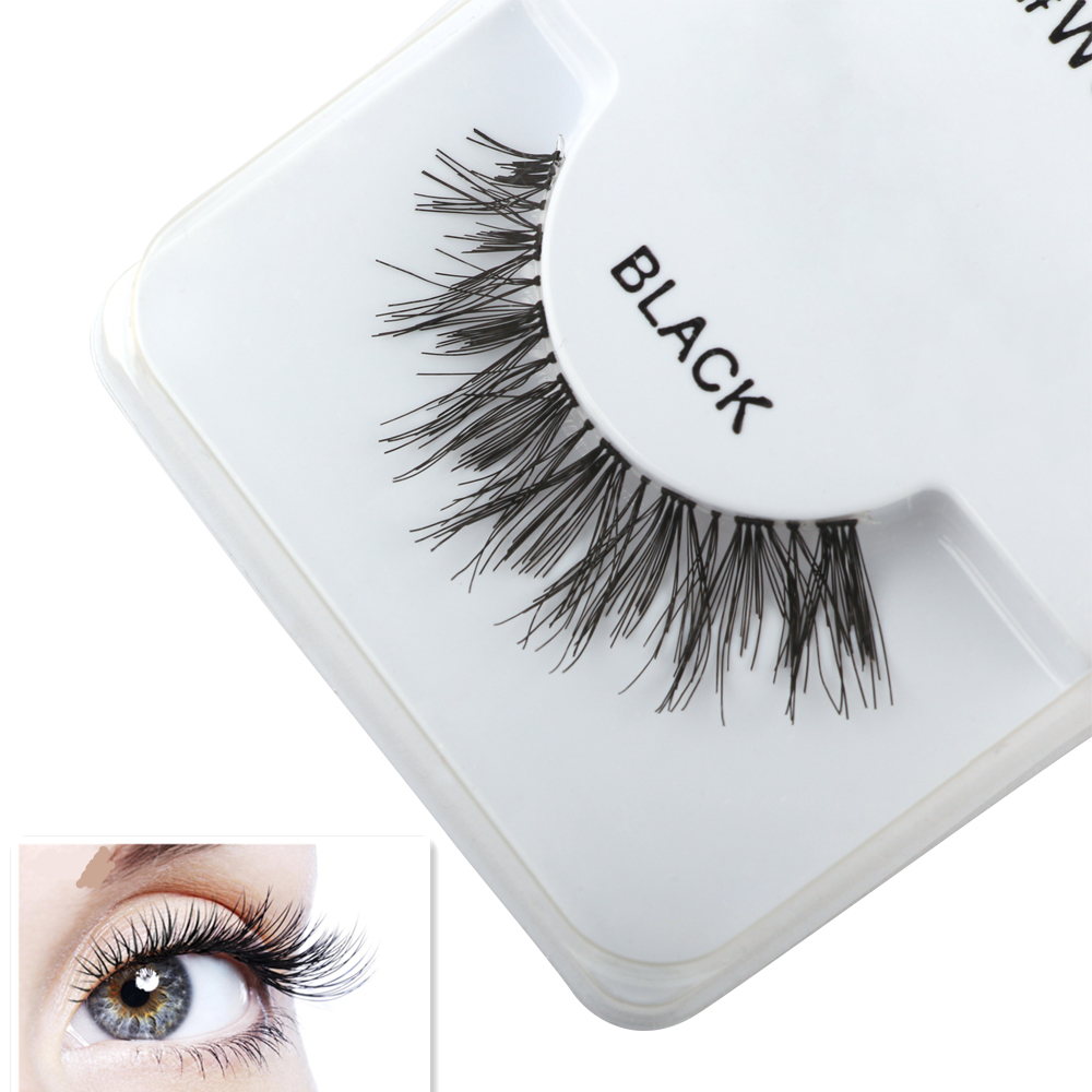50pair Cross Slim Thick Eye Lashes Handmade Cotton Stems False Eyelashes Naturally Short Paragraph Daily Makeup Fake Eyelashes