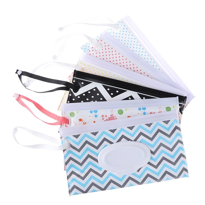 Экологически чистые легко переносные влажные салфетки сумка с защелкой ремешок салфетки контейнер раскладушка косметический чехол клатч чистящие салфетки чехол