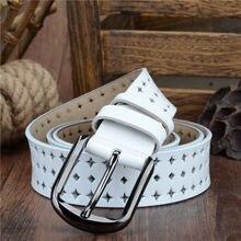 100% Genuine leather belts for Women pin buckle belt hollow Korean fashion belt NQSK002 length 100-125CM