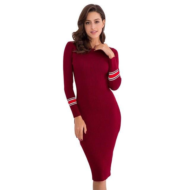 GNIBIEL Women\'s dress winter wear 2018 new autumn knitted Jersey ...