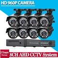 Início 8CH CCTV Sistema de Segurança 8 canais HDMI 1080 P AHD DVR HD 960 P 1.3MP bala ao ar livre Câmera de Vigilância de Vídeo kit sistema