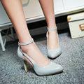 Ladies Elegant Pumps Faux Suede Shoes Pointed Toe Shoes Thin Heel Shoes Large Size 34-43