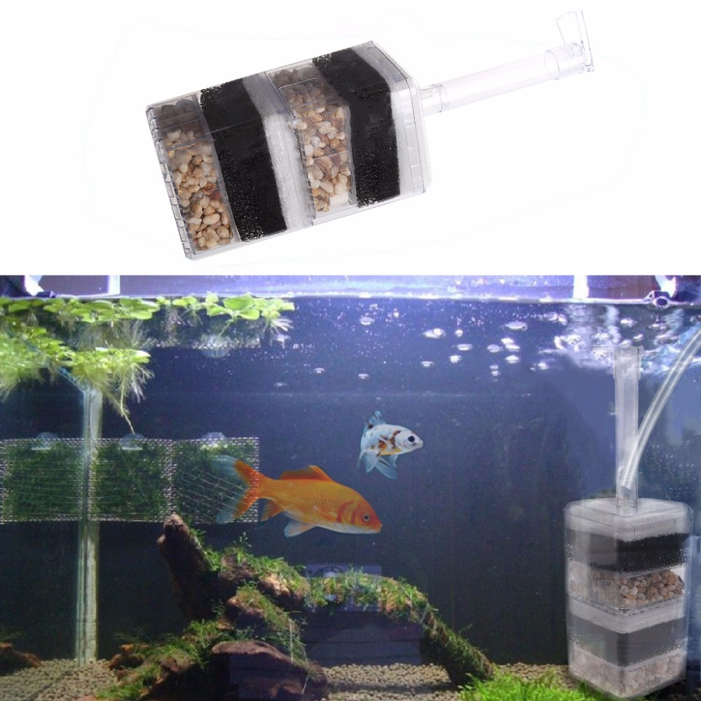 Useful air driven biochemical corner filter sponge fry for Outdoor fish tank filter