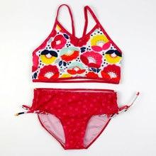 Baby Girls 2pcs Swimsuits Summer Girl Print Bikinis Set Children Split Swimwear Beachwear Kids Bathing Suits Hot Springs Wear