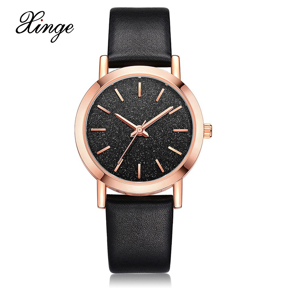 Xinge Watches Brand Women Genuine Leather Band Luxury Ladies Bracelet Watch Fashion Simple Quartz Wristwatch Waterproof Clock new brand women s genuine watches high grade swiss lady s watch waterproof fashionable steel band quartz wristwatches