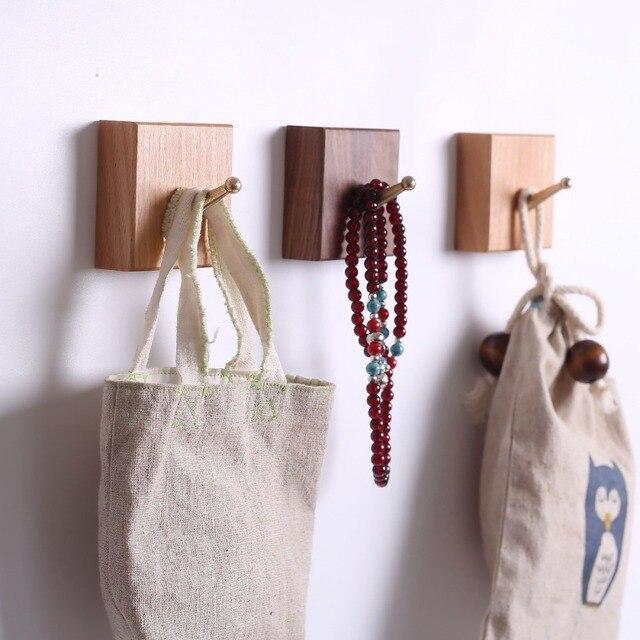 Nordique Hêtre Noyer Bois Moderne Conception Vêtements Porte Mur Robe  Crochet Support Pour Accrocher Un Couloir