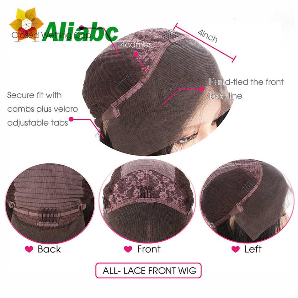 Aliabc 13*4 волосы боб парики бразильские Короткие Кружева передние человеческие волосы парик для черных женщин натуральный цвет Remy кудрявые Бесплатная доставка