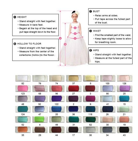 Belle dentelle Applique fleur filles robe avec ruban trou de serrure dos gonflé Tulle première Communion robe de noël robe de toute taille - 5