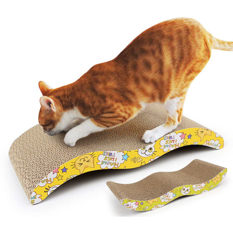 Cat Scratchers M Shape Corrugated Cardboard Cat Scratchers With Catnip Pet Products For Cats Kitten 44*21*7cm Thickness 4cm