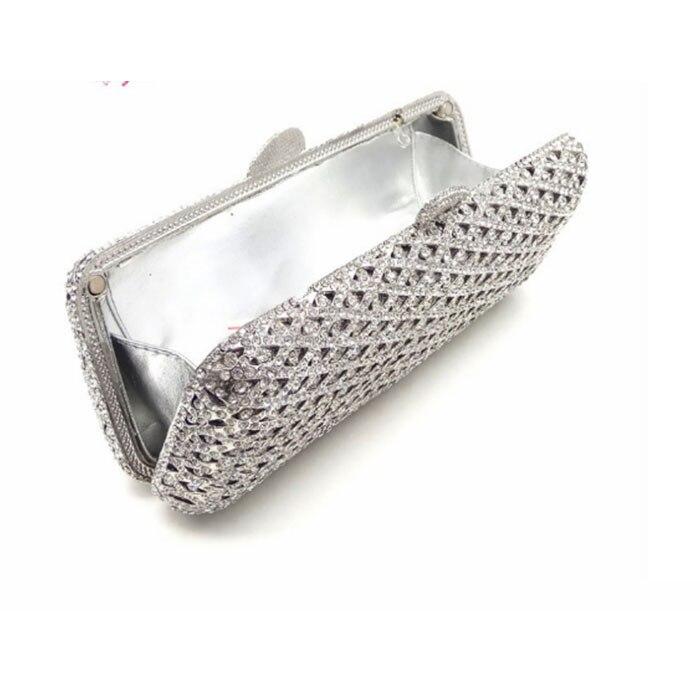 Américain Lady Soirée Noce Style D'embrayage Sacs Main Cristal De Perles Femmes Sac Diamants Dames À Argent Européen Et w1a6xq