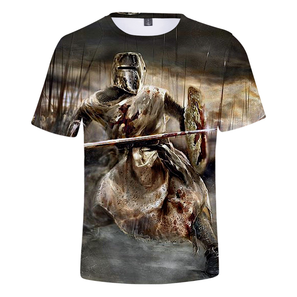 Knights Templar   T  -  Shirt   men/women Novelty Peculiar Casual Summer Short Sleeve Tshirts Knights Templar Male   T     shirts