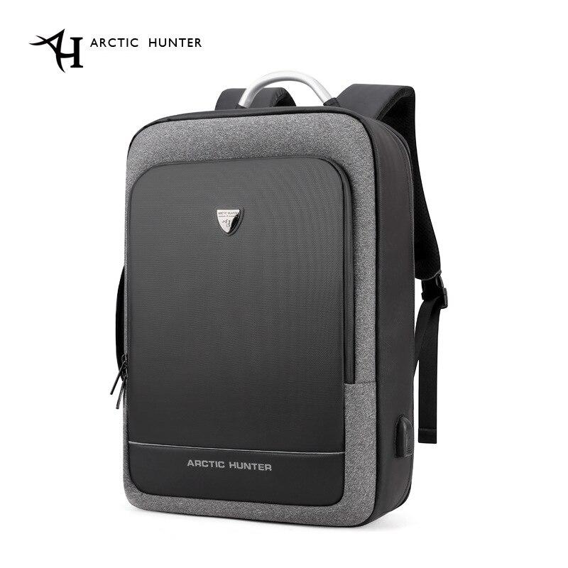 Arctique HUNTER 17 pouces USB étanche Anti-vol ordinateur portable hommes sacs Sport voyage affaires cahier mâle sac à dos cartable Pack
