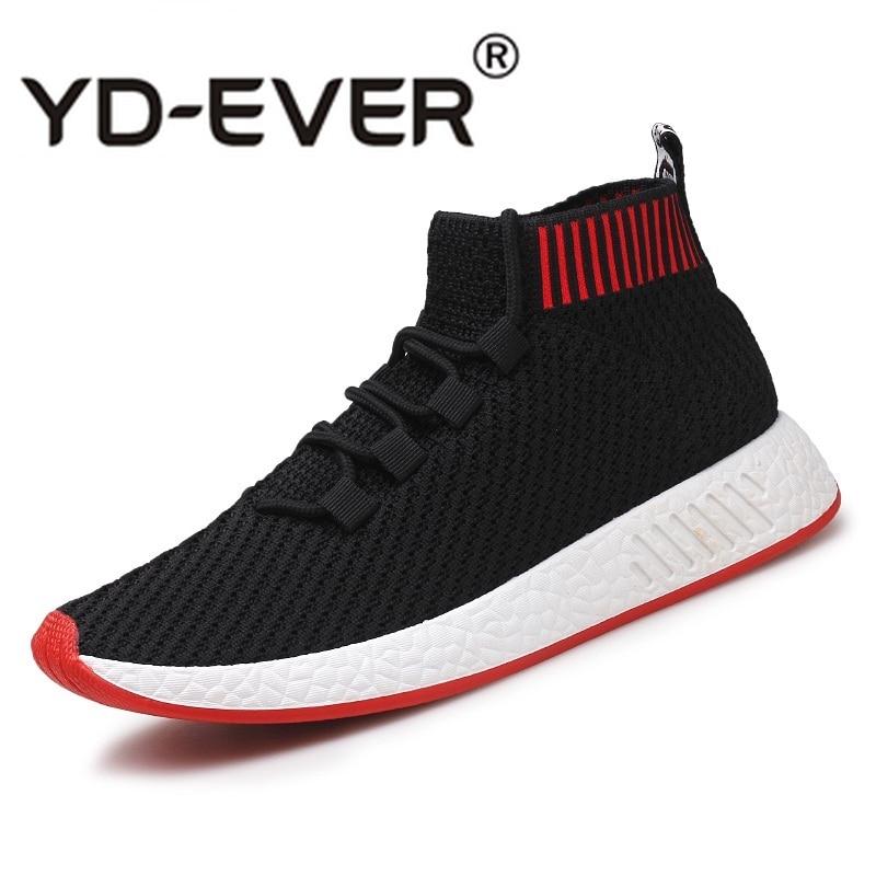 b45297a2 Для мужчин Fly-плетеные туфли для мужские кроссовки мужской модный носок обувь  дышащие повседневная мужская