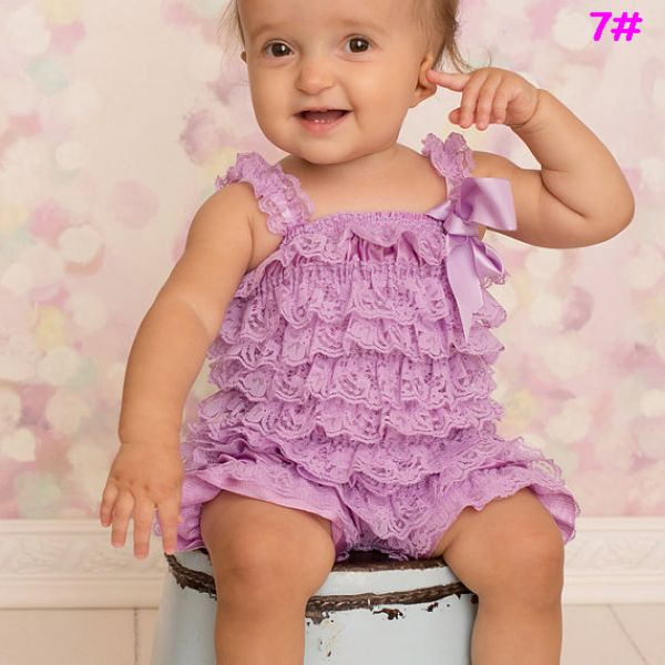 Lavender Lace Romper Baby Girl Outfit Preemie Newborn