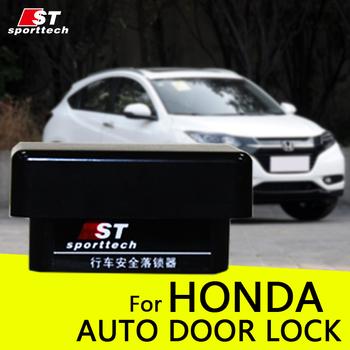 Auto drzwi blokada zamknięcia OBD dla Honda prędkość samochodu dla Honda Fit CRV Civic odyssey city Spirior XRV Crider zgodnie z Jade Vezel tanie i dobre opinie Urządzenie zabezpieczające przed kradzieżą w jedną stronę Bez lcd pilot zdalnego sterowania Auto centralny zamek ST sporttech