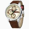 2016 CURREN Novo Dos Homens Do Esporte Relógios Militares relógios de Pulso de Couro de Luxo Masculino À Prova D' Água Relógio de Quartzo relogio masculino 8170