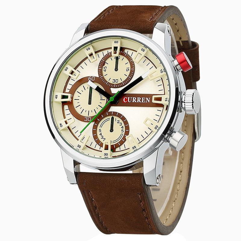 Prix pour Curren hommes de montres militaires de luxe en cuir montres hommes mâle étanche montre à quartz horloge relogio masculino 8170