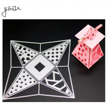 YINISE Metal Cutting Dies For Scrapbooking Stencils BOX Cut SCRAPBOOK CUT DIY Album Cards Decoration Embossing Folder Die Cuts