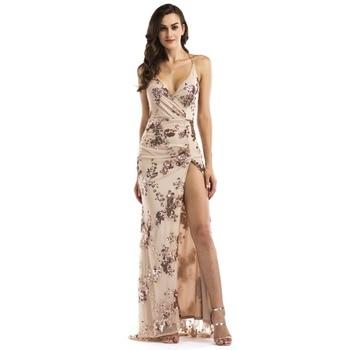 402939363415899 Product Offer. Новая Мода vestidos mujer пикантные для женщин V образным  вырезом без рукавов Макси блесток спинки разделение коктейльное платье ...