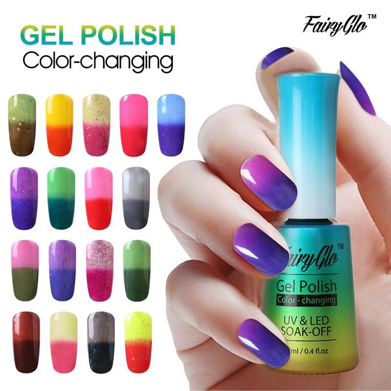 fairyglo 12ml thermo uv gel nail polish led gel polish color change paint gellak hybrid varnish. Black Bedroom Furniture Sets. Home Design Ideas