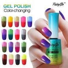 FairyGlo 12ML Thermo UV Gel Nail Polish LED Gel Polish Color Change Paint Gellak Hybrid Varnish Lucky Lacquer Semi Permanent