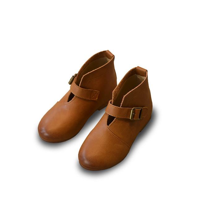 Elegante causal niña botas zapatos de cuero genuino sólido de para 1-3yrs niñas infantil recién nacido niños botas de moda los zapatos calientes