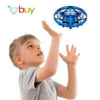 Мини UFO Дрон игрушки Инфракрасный зондирование управление интерактивный самолет жесты индукции управления led высота удержания Квадрокопте...