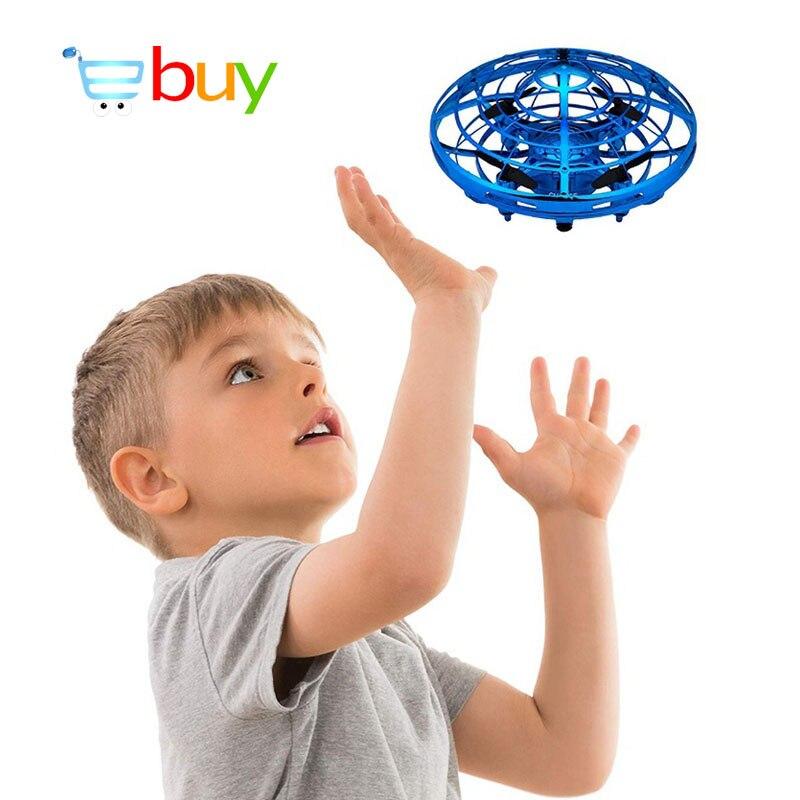 Mini UFO Drone juguetes de Control de detección de infrarrojos interactiva avión gesto inducción Control de altitud cuadricóptero para niños